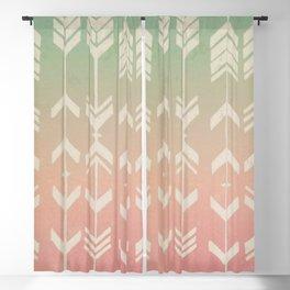 Gradient Tribal Arrows Blackout Curtain