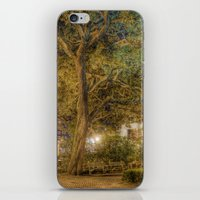 allyson johnson iPhone & iPod Skins featuring Johnson Square by -SM-