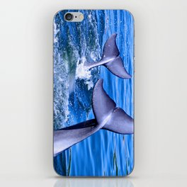 Dolphin tails iPhone Skin