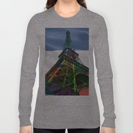 The Eiffel Tower and French Flag,  Long Sleeve T-shirt
