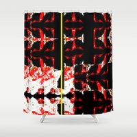 gift card Shower Curtains featuring gift by bisualhart