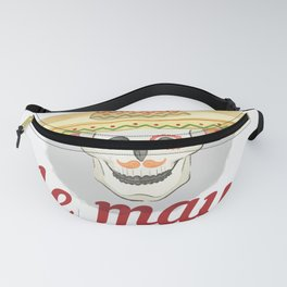 Cinco de Mayo Festivities Skeleton in Sombrero Mexican Independence Fanny Pack