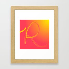 Rolling R Framed Art Print