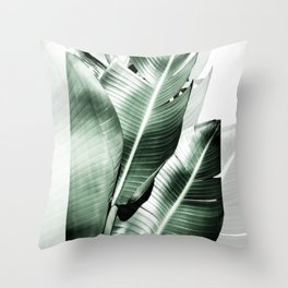 Banana leaf akin Throw Pillow