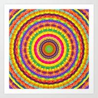 batik Art Prints featuring Batik Bullseye by Peter Gross