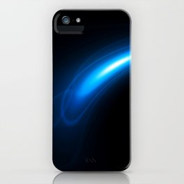 Blue Twirl Abstract iPhone Case