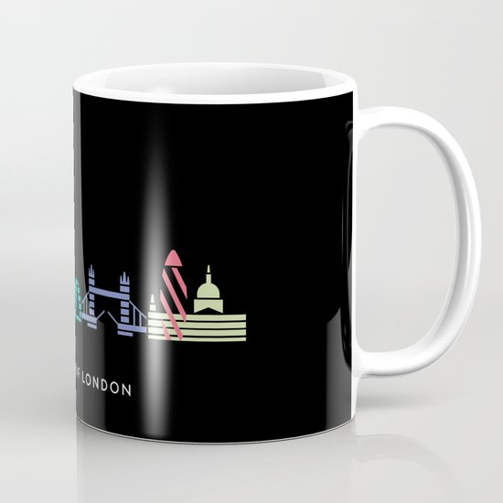 London Skyline Black Mug