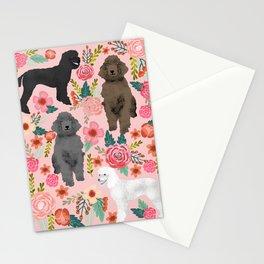 Poodle mixed coat colors brown poodle black poodle white poodle pet portrait dog art animal Stationery Cards