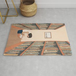 Getting Lost in a Book Rug