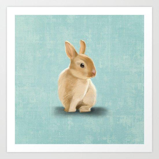 Portrait of a little bunny Art Print
