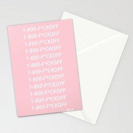 1-800-F*CKOFF Stationery Cards
