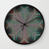 tron Wall Clocks featuring Tron Star by Vortex Interactive