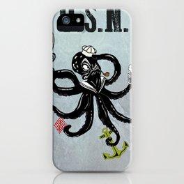 USN Octopus iPhone Case