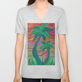 Palm love Unisex V-Neck