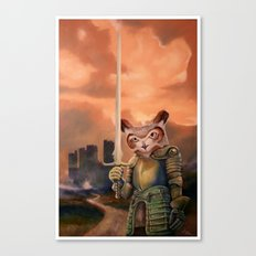 Knight Owl Canvas Print