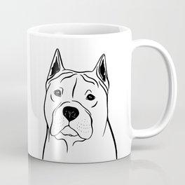 American Staffordshire Terrier (Black and White) Coffee Mug
