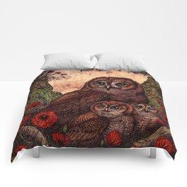 Tawny Owlets Comforters