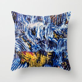 Hokusai's Wave Abstracted Throw Pillow
