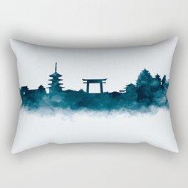 Kyoto Skyline Rectangular Pillow
