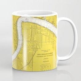 Vintage Map of New Orleans LA (1966) Coffee Mug