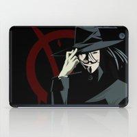 vendetta iPad Cases featuring V for Vendetta (e1) by Ezgi Kaya