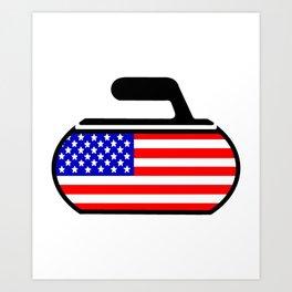 USA Curling Art Print