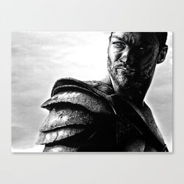 Drawing of the real Spartacus, Andy Whitfield Canvas Print