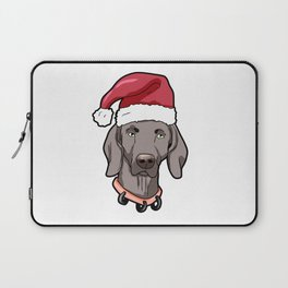 Weimaraner Dog Christmas Hat Present Laptop Sleeve