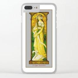 Vintage Art Nouveau - The innocent Swan Clear iPhone Case