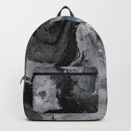 Gray Abstract Painting / Grey Minimalist Wall Art Backpack