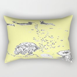 Two Tailed Duck and Jellyfish Baby Yellow Rectangular Pillow