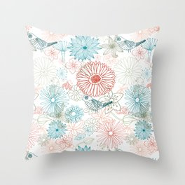 Floral dreams Throw Pillow