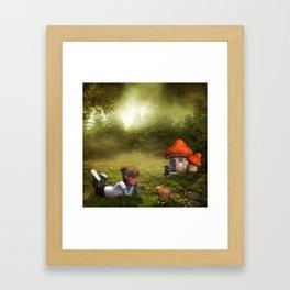 The world is beautiful Framed Art Print