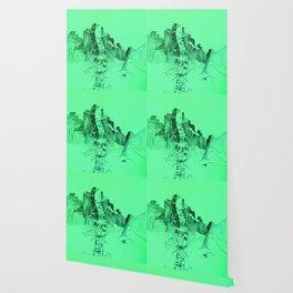 Mint Birch Tree Wallpaper