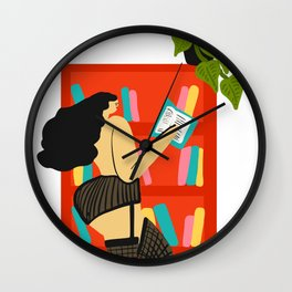 Girl Reading Wall Clock