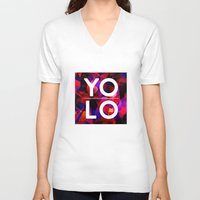 sayings V-neck T-shirts featuring Dreams of YOLO Vol.2 by HappyMelvin