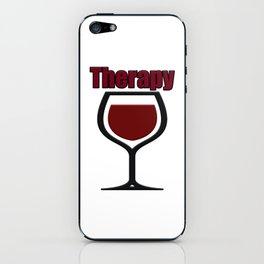 wine therapy iPhone Skin
