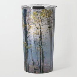 Mystic Forest - Early Morning Glow in Smoky Mountains Travel Mug