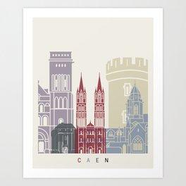 Caen skyline poster Art Print