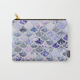 Purple and Ultra Violet Trendy Glitter Mermaid Scales Carry-All Pouch