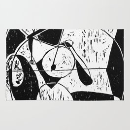Xylography femme Rug