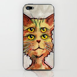 Four Eyed Cat iPhone Skin