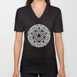 Celtic Pentagram Unisex V-Neck