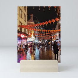 London Chinatown after the Rain Mini Art Print