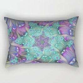 Find Yourself, Abstract Fractal Art Rectangular Pillow