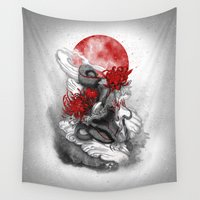 dragon ball Wall Tapestries featuring Dragon by Marine Loup