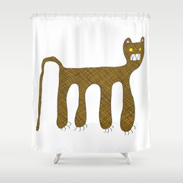 Squared Tiger Shower Curtain