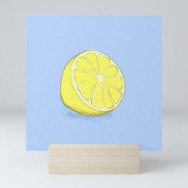 Lemon on Lavender Blue Mini Art Print