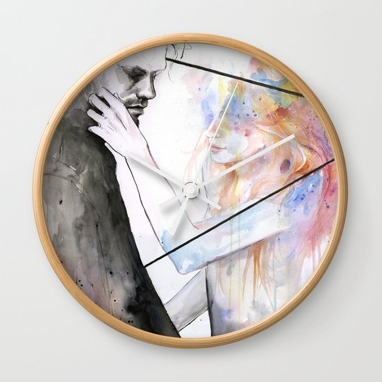 two different lights Wall Clock