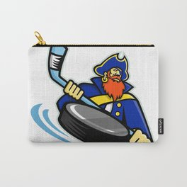 Swashbuckler Ice Hockey Sports Mascot Carry-All Pouch